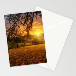 Scenic landscape Photo at Sunset Stationery Cards