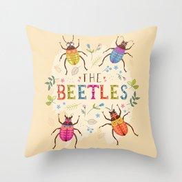 The Beetles Throw Pillow