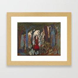 Forest Dress Framed Art Print