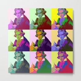 Ludwig Van Beethoven Pop Art Metal Print