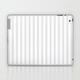 Soft Grey Mattress Ticking Wide Striped Pattern - Fall Fashion 2018 Laptop & iPad Skin