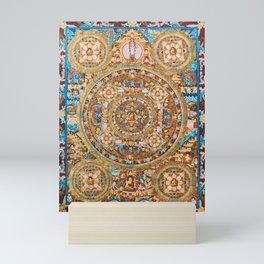 Buddhist Mandala 47 Buddha Mudra Mini Art Print
