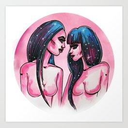 Cosmo Girls Art Print