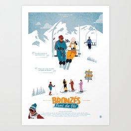 Les Bronzés font du ski - Fanart movie poster Art Print