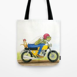 Monster Cycle Tote Bag
