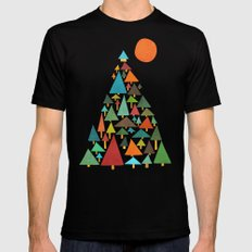 The house at the pine forest Mens Fitted Tee MEDIUM Black