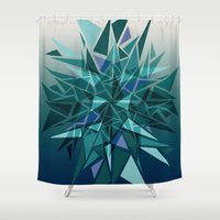 cracked Shower Curtains featuring Cracked Icicles by AJJ ▲ Angela Jane Johnston