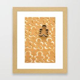 Gingerbread Cookies Framed Art Print