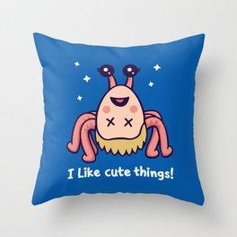 I Like Cute Things Throw Pillow