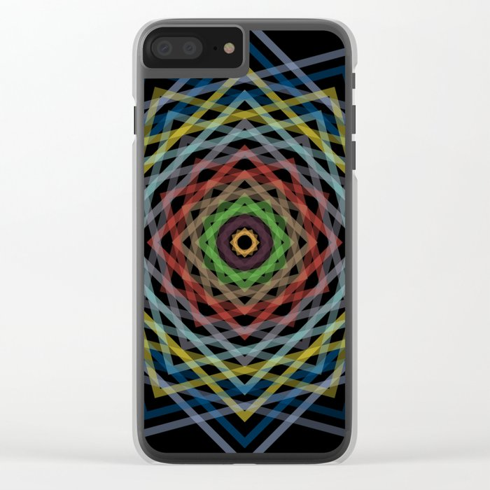 Colorful Geometric Pattern V Clear iPhone Case