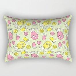 Summer Doodle - Pink and Yellow Lemonade Pattern Rectangular Pillow
