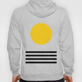 Midcentury Yellow Minimalist Sunset With Black Stripes Hoody