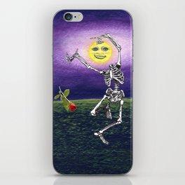 Skeleton Moon iPhone Skin
