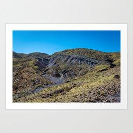 Hillside Highs of Maragua Crater Art Print