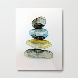 Stones in water colour Metal Print