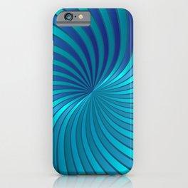 Blue Spiral Vortex G213 iPhone Case