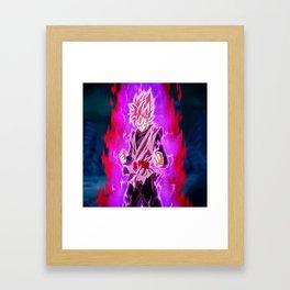 Black Goku Super Saiyan Rosé Framed Art Print