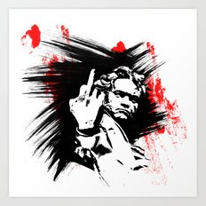 Beethoven FU Art Print