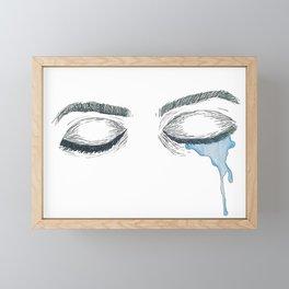 Crying Eyes Framed Mini Art Print