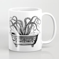 Tentacles in the Tub | Octopus | Black and White Mug