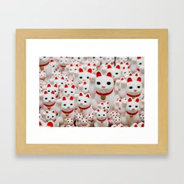 Lucky Cats Framed Art Print