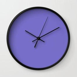 Violet-blue (Crayola) - solid color Wall Clock