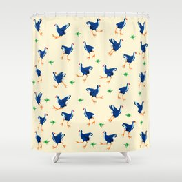 Pukeko swamp hen pattern Shower Curtain
