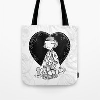 french Tote Bags featuring French! French! French! by Butterpop Shop