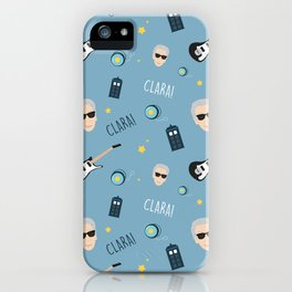 Twelve Doctor Who pattern iPhone Case