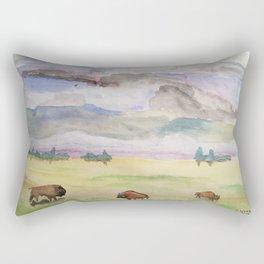 """""""Three Bison"""" Rectangular Pillow"""