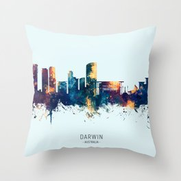 Darwin Australia Skyline Throw Pillow