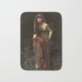 John Collier - Priestess of Delphi, 1891 Bath Mat