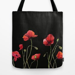 Poppies at Midnight Tote Bag