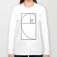 fibonacci Long Sleeve T-shirts featuring fibonacci spiral by nyealexanda