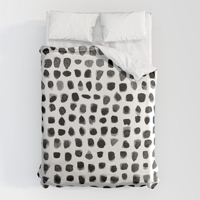Dots (Black) Bettbezug