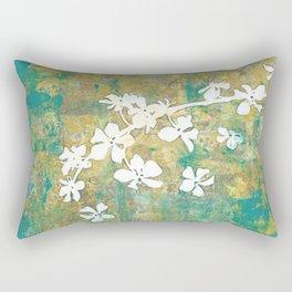 Falling Cherry Blossom Rectangular Pillow