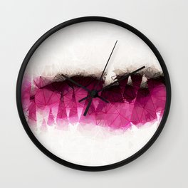 Modern Wine Geometrical Pattern Abstract Wall Clock