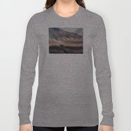 Sunset Through the Flag Long Sleeve T-shirt