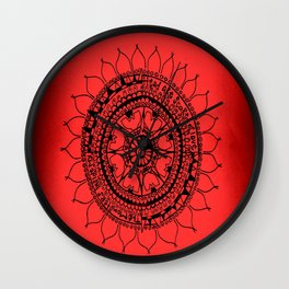the monsters inside my head are scared of love Wall Clock