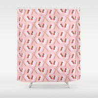 cake Shower Curtains featuring Cake by Inbeeswax