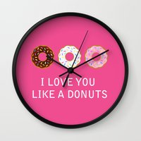 food Wall Clocks featuring food by mark ashkenazi