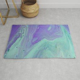 Blue Purple Flow - Fluid Acrylic Abstract Painting Rug