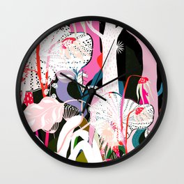 psychadelic forest Wall Clock