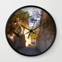 mexican Wall Clocks featuring Mexican desert by lennyfdzz