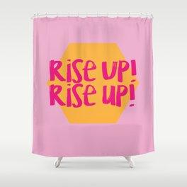 Rise Up (Hamilton Series) Shower Curtain