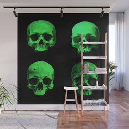 Skull quartet green Wall Mural