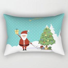 Santa Claus and gifts Rectangular Pillow