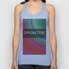 Spring airs. Circles of spring colors. Unisex Tank Top