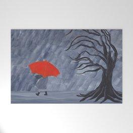 Orange Umbrella Welcome Mat