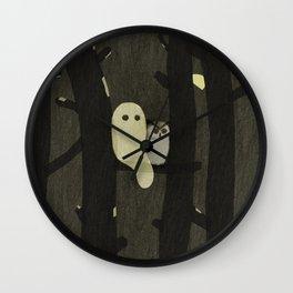 Little Ghost & Owl Wall Clock